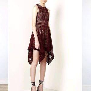 KEEPSAKE the Label lace burgundy dress